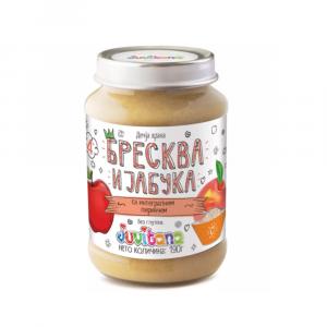 Juvitana kašica-breskva-jabuka-integralni pirinač 190g