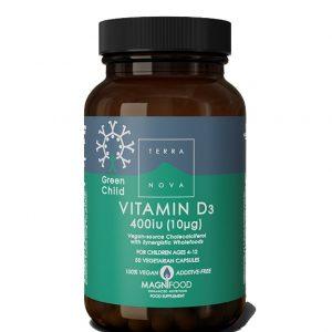 Terranova Dečiji vitamin D3 i.j. A50 cps
