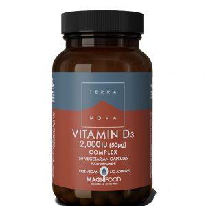 Terranova Vitamin D3 2000 i.j. A50 cps