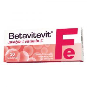 BETAVITEVIT FE+VIT C TBL A30