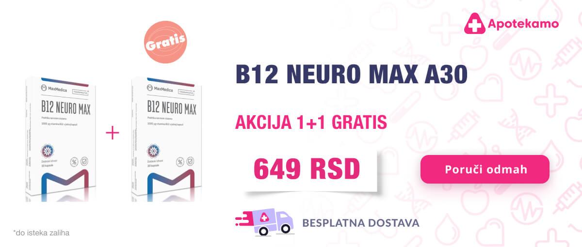 MaxMedica B12 1+1 gratis pakovanje